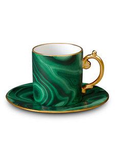 malachite espresso cup and saucer