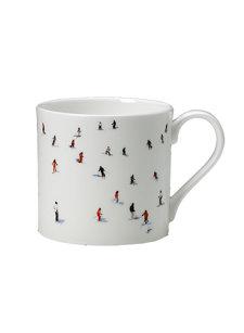 large skier mug