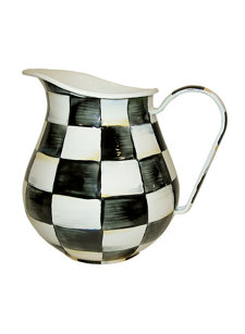 courtly check 3 quart pitcher