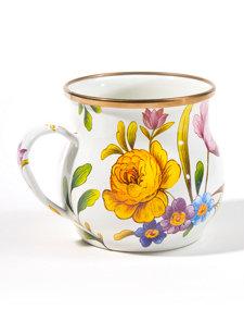 flower market mug white
