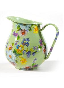 flower market pitcher