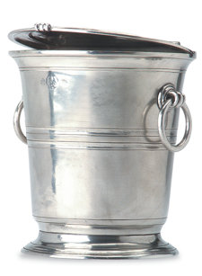 pewter ice bucket with lid