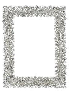 winter garland frame