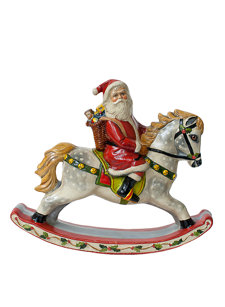 vintage santa on rocking horse