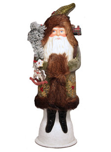 large santa with fur green