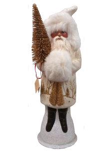 large santa with fur white