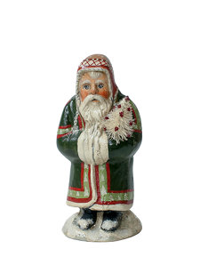 small father christmas with winter hat