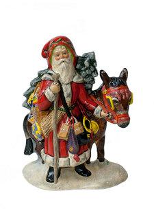 santa with donkey