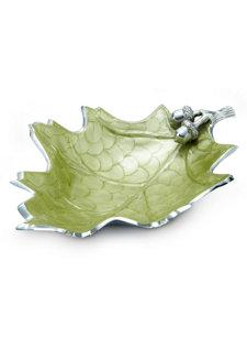 oak leaf kiwi bowl
