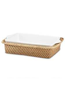 beachgrass wicker rectangular baker