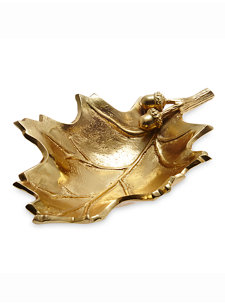 13'' oak leaf bowl