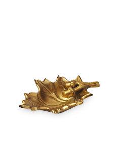 6'' gold oak leaf bowl