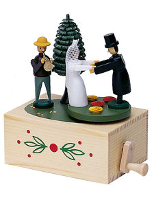 bride and groom music box