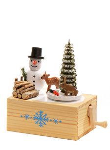 winter snowman music box