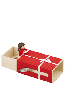 doll with a letter in the box