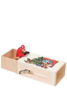 santa claus in the box
