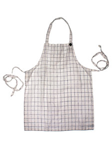 children's check apron