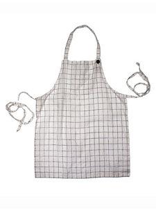 adult check apron