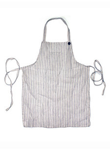 adult striped apron