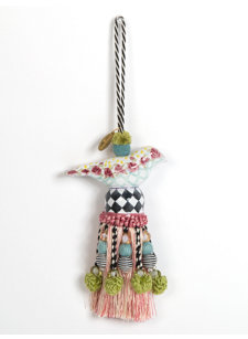 ceramic rose bird tassel
