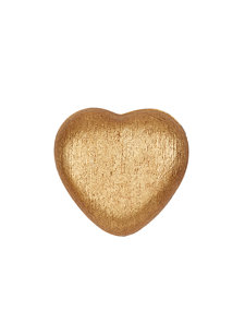 gold linen heart box