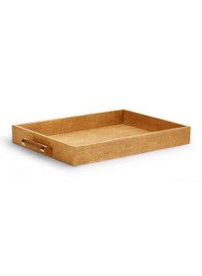 gold linen butler tray