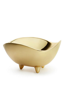 footed deco large bowl