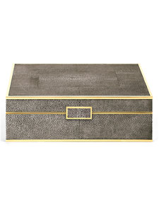 chocolate shagreen large jewelry box