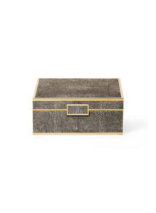chocolate shagreen small jewelry box