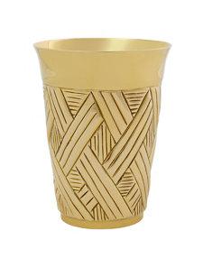 brass basket-weave julep cup