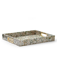 moss green marble tray