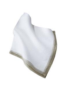 flax lace-edge napkin