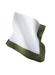 silver green napkin