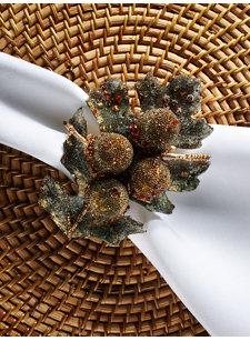 gilded acorn napkin ring