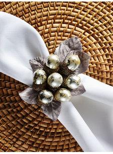 pearl acorn napkin ring