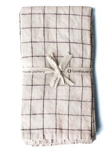 check napkin (set of 4)