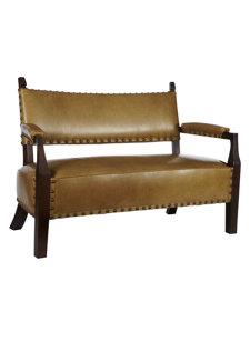 eliza leather settee